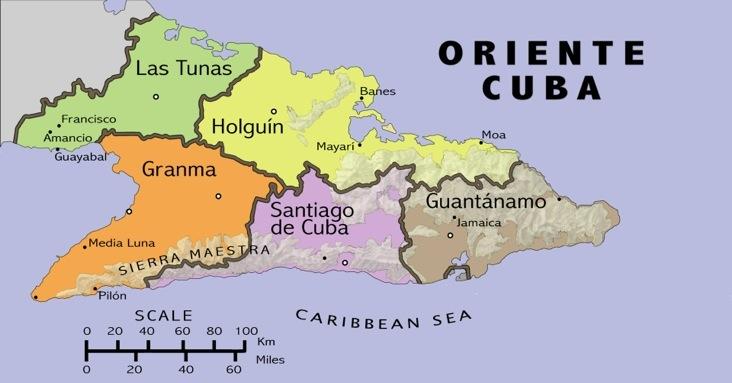 Cuboriente - Cuba provinces map